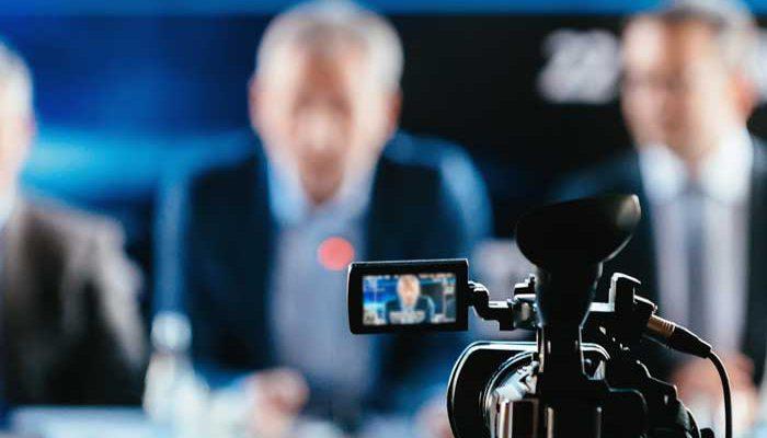 Anbieter Livestreaming -Pressekonferenz