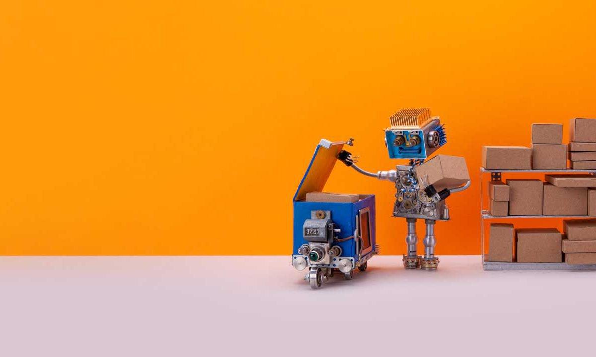 Roboter packt Livestreaming Pakete ein