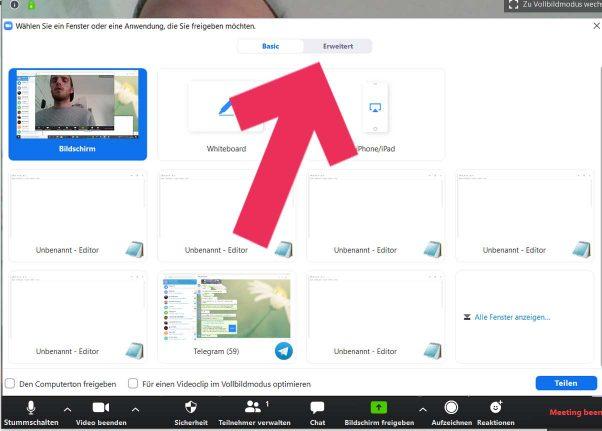 Zoom Livestream zweite Kameraperspektive