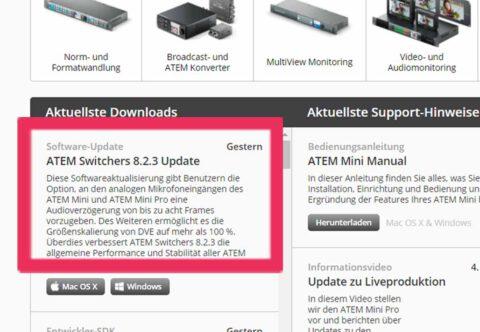 Download ATEM Mini Update